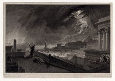 A John Martin print from our collection which you may not have seen. This is 'Seventh Plague of Egypt' and it's an etching illustrating one of the biblical plagues. From the collection of the Laing Art Gallery Plagues Of Egypt, 10 Plagues, Newcastle University, Uk Holidays, John Martin, Historian, Ancient Egypt, Art Gallery, Earth