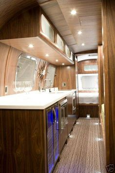 1978 Sovereign 31' - Vintage Airstream Lighting and over-counter cabinets