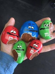 Painted M&M's Rocks