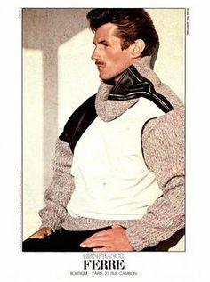 Vintage Men's Editorials & Ads - Page 44 Vintage Men, Retro Vintage, Vintage Fashion, Gianfranco Ferre, Timeless Fashion, Gq, 1980s, Vest, Husband