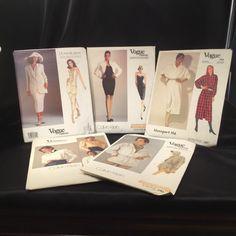 Vogue Uncut Pattern Lot Klein Donna Karan Blassport 1067 1165 1211 2461 2050  #VoguePatterns