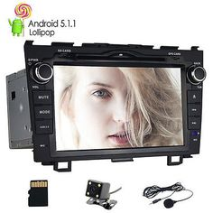 """﹩309.99. 1024*600 Quad Core Android 5.1 Car Stereos DVD GPS WIFI  For Honda CRV 2008-2011    Manufacturer Part Number - J-8815+5.1+hd, Features - 1080P, Screen Size - 8"""", Unit Size - 2 DIN, Country of Manufacture - China"""