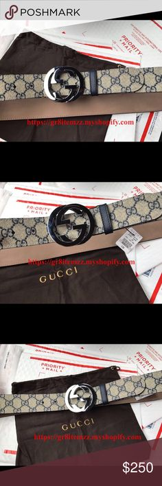 Authentic blue beige Gucci belt Blue beige Gucci belt round tip with silver interlocking g buckle. Please Visit our site to purchase. We accept 🅿️🅿️ and we have all the best latest belts and much more available. Check us out! Shop with confidence. 100% satisfaction guaranteed. If you have any questions or concerns please feel free to contact us at any time. Thank you. Accessories Belts