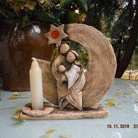 Prodané zboží uživatele keramika HR   Fler.cz Nativity Ornaments, Nativity Crafts, Christmas Crafts, Christmas Decorations, Christmas Clay, Christmas Nativity, Christmas Ornaments, Nativity Stable, Hand Built Pottery