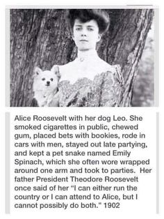 Alice Roosevelt, Be My Hero, Historia Universal, Funny Quotes, Funny Memes, Funny Pics, Cultura General, Pet Snake, History Memes