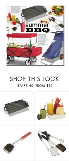 """""""Lov Dock Summer BBQ"""" by beebeely-look ❤ liked on Polyvore featuring interior, interiors, interior design, home, home decor, interior decorating, Crate and Barrel, Red 23, garden and BBQ"""