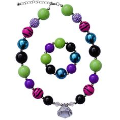 Spunkadelic Monster High Inspired Chunky Jewelry Set