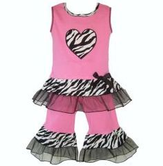 @Overstock - Show her wild style in this adorable two-piece set capri set from AnnLoren Boutique. Trendy zebra and tulle ruffles trim the Capri pants and a zebra print heart embellishes the top.   http://www.overstock.com/Clothing-Shoes/AnnLoren-Girls-Hot-Pink-Zebra-and-Capri-Outfit/6455514/product.html?CID=214117 $24.99