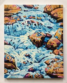 Enrique Zaldivar, Acrylic Painting Landscape, Sea Waves Rocks, Cuban artist  | eBay
