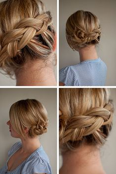 Twist + Pin Messy Braided Low Updo - Tutorial