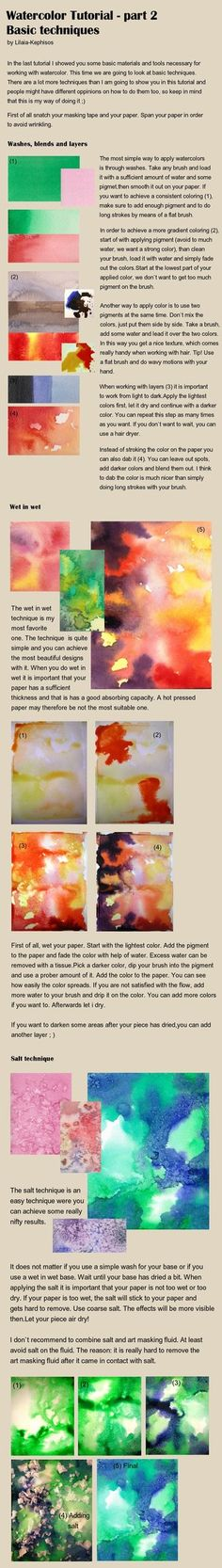 Watercolor tutorial part 2 by *Fossegrimen on deviantART