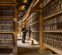 New book The Library features stunning pictures of libraries around the globe, including the The Tripitaka Koreana at the Haeinsa Temple in South Korea.  (Photo © Will Pryce, from 'The Library: A World History' by James W. P. Campbell and Will Pryce, via Daily Mail)