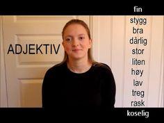 Minikurs i tegnspråk: adjektiv (#19) Sign Language, Sign Language Art
