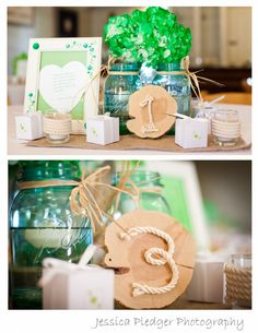 country wedding centerpieces DIY Jessica Pledger Photography