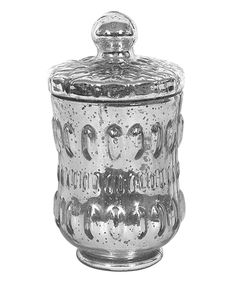 Look what I found on #zulily! Pewter Antique-Inspired Lidded Glass Candleholder by Creative Co-Op #zulilyfinds