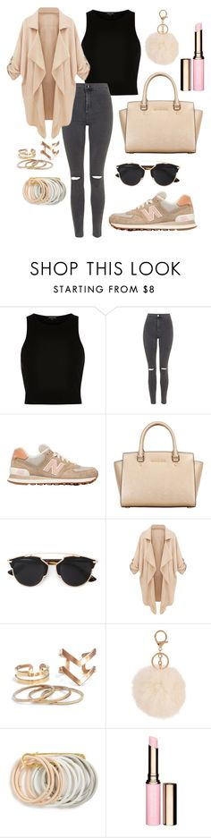 """93. Nude"" by mwpolyvore ❤ liked on Polyvore featuring moda, River Island, Topshop, New Balance, MICHAEL Michael Kors, Christian Dior, Odeme, Clarins, women's clothing y women"