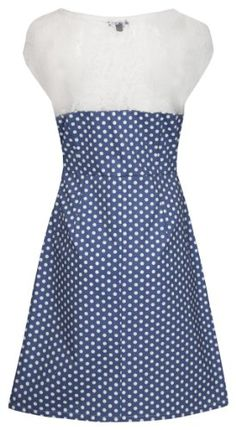 MyMust Women's Sophisticated Polka Dot Dress With Lace Shoulder Detail Dot Dress, Lace Dress, Polka Dots, Fashion Dresses, Size 10, Amazon, Detail, Shoulder, Link
