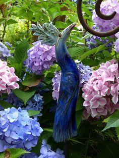 """Keramik - leuchtend blauer """"PARADIESVOGEL"""" - ein Designerstück von…"""
