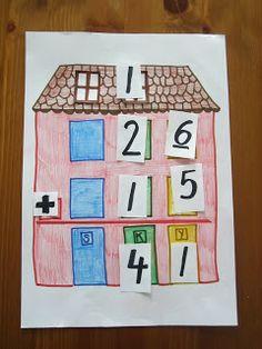 Open ideat: Yhteenlasku allekkain.Tällainen on näppärä tehdä myös älytaululle työskentelypohjaksi. Math Worksheets, Preschool Activities, Special Needs Teaching, I Love Math, Math Crafts, Math Strategies, Star Quilt Patterns, Teaching Math, Maths