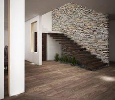 Casa O-M: Paredes y pisos de estilo rústico por Jeost Arquitectura