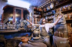 """Daniel Leş, potter craftsman, named also """"the last free Dacian"""" from Maramures, in northern Transylvania Craftsman, World, Free, Artisan, The World"""