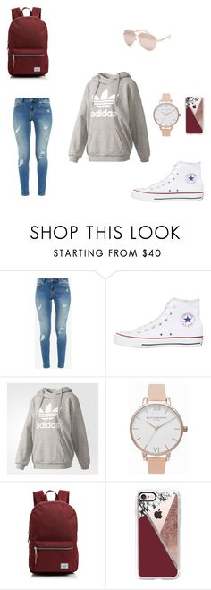 """school dazy"" by katykryzak on Polyvore featuring Ted Baker, Converse, adidas, Olivia Burton, Herschel Supply Co., Casetify and Full Tilt"