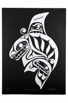 """Spirit of the Killer Whale"" by Karla West (Kwakwaka'wakw). Limited edition print."