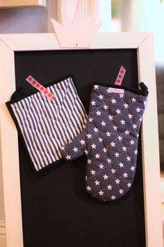 Der Ofenhandschuh ist die perfekte Ergänzung für die Küchenschürze. Auch der Handschuh ist im handumdrehen genäht und wird grantiert für Freude sorgen!