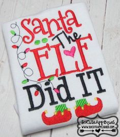 A personal favorite from my Etsy shop https://www.etsy.com/listing/252135783/santa-the-elf-did-it