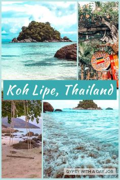A collage of water and beach scenes from Koh Lipe Thailand, some of the reasons to visit Koh Lipe. Find paradise in Thailand on Sunset Veach and Sunrise Beach. Visit Thailand, Thailand Travel, Asia Travel, Backpacking Thailand, Thailand Honeymoon, Thailand Art, Pattaya Thailand, Krabi Thailand, Bangkok Thailand