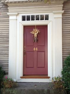 pop of colour for the front door & Mindy Laven Interiors: Benjamin Moore Front Door: Mink I love this ... Pezcame.Com