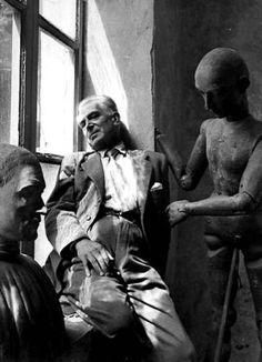 Felice Casorati, 1949. By Herbert List.