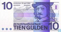 Bankbiljet - Bekende Nederlanders - 10 gulden Nederland 1968