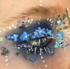 цветочный макияж