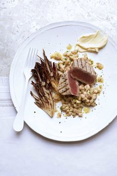 Tuna steak with haricot beans, radicchio and lemon… | Food and Travel