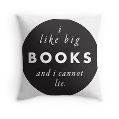Big books and a classic rap song, how can you go wrong? Loving this throw pillow design by marinapb on Redbubble.