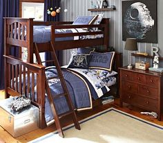 Kendall Twin-Over-Full Bunk Bed #PotteryBarnKids > possibility for Paige's room, but it's a bit clunky looking