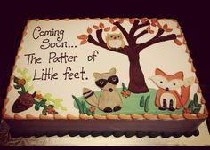 Woodland animal baby shower cake CAKE Pinterest Woodland