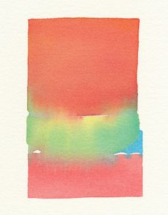 a soft primary color fade original small by malissasplace on Etsy