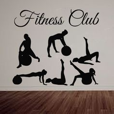 Fitness Wall Decals Sport People Woman Decal Vinyl Sticker Decor Home Art LM123