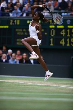 This image shows Venus Williams playing tennis in a skirt with shorts underneath. Fashioned basically after short pants like Schiap created.