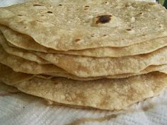 Sprouted Flour Tortillas.  The recipe from Bethany in the comments is the one I want to try.