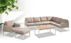 Tuinmeubelen #moderne #beige #loungeset #lounge #loungebank #tuinset #tuinmeubel #Fonteyn