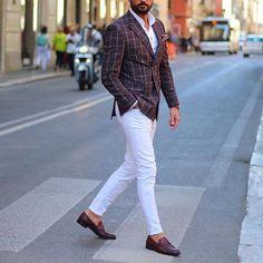 Dapper @tufanir | white pants idea ✨ [ www.RoyalFashionist.com ]