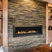 The Majestic Echelon II Direct Vent Gas Fireplace - 60 Direct Vent Gas Fireplace, Vented Gas Fireplace, Brick Fireplace Makeover, Fireplace Wall, Living Room With Fireplace, Fireplace Ideas, Fireplace Remodel, Fireplace Stores, Mantle Ideas