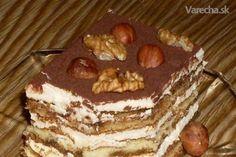 Kráľovske tiramisu pre maškrtné jazýčky Just Desserts, Dessert Recipes, Tiramisu, Recipies, Cheesecake, Cupcakes, Sweets, Baking, Ethnic Recipes