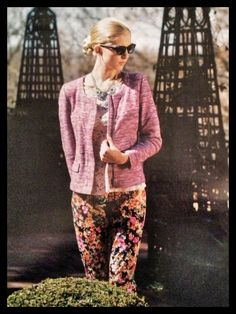 Corey Lynn Calter floral pant styled for Indulge magazine photo shoot...pants at You Are Here