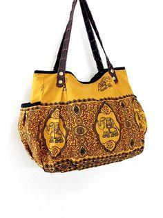 Women bag Handbags Thai Cotton bag Elephant bag by veradashop