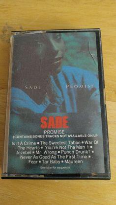 Sade Promise Vintage Cassette Tape 1985 CBS Records #SoftRock