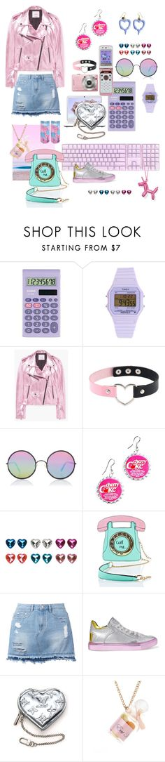 """""""Vaporwave"""" by ziyan-cai ❤ liked on Polyvore featuring Casio, Timex, MANGO, Sony, Hello Kitty, Sunday Somewhere, Hollywood Mirror, Full Tilt, 3 AM Imports and Steve J & Yoni P"""